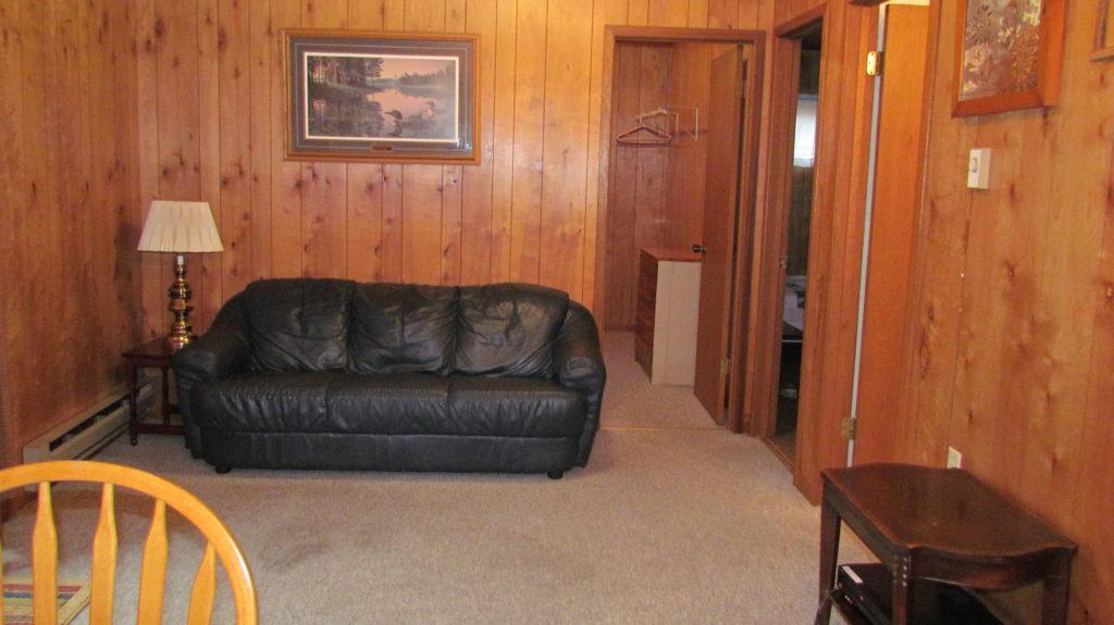 Living room at Swan Lake Campground
