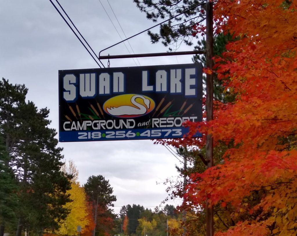 Swan Lake Campground & Resort Sign